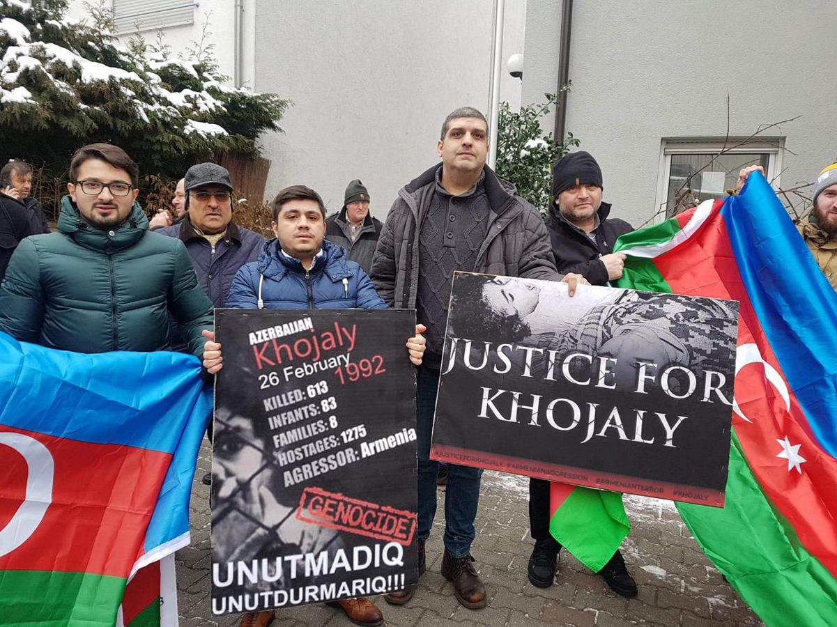 В Мюнхене проведена акция протеста в связи с Ходжалинским геноцидом