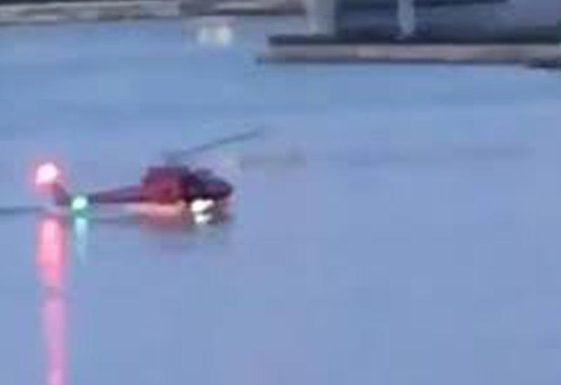 Момент падения вертолета в реку в Нью-Йорке попал на камеры