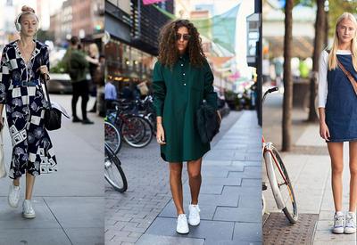 """6 модных платьев весны 2018, которые лучше всего сочетаются со спортивной обувью <span class=""""color_red"""">- ФОТО</span>"""