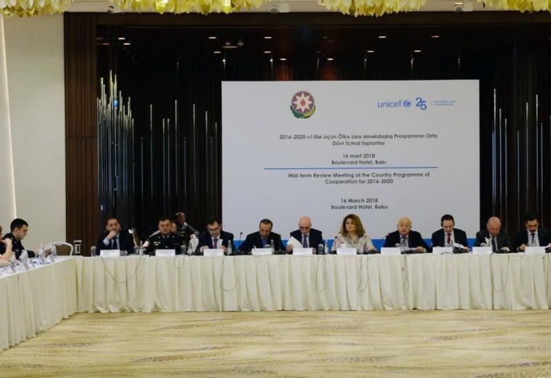 """Азербайджан и ЮНИСЕФ обсуждили программу сотрудничества <span class=""""color_red"""">- ФОТО</span>"""