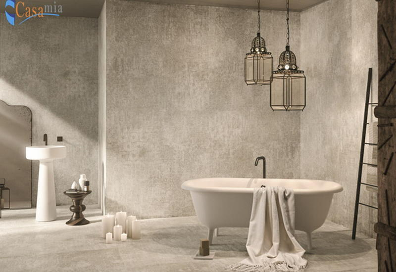 Уникальный интерьер ванный комнаты в Casamia
