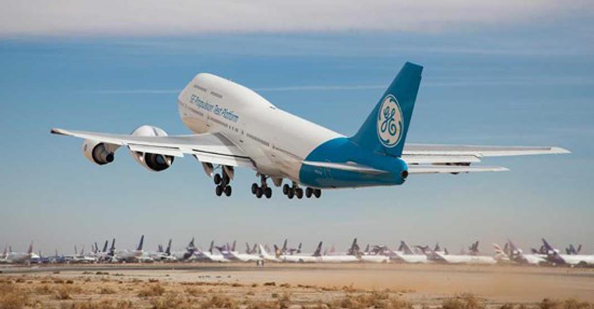 GE проверила  вполете наибольший  авиадвигатель вмире