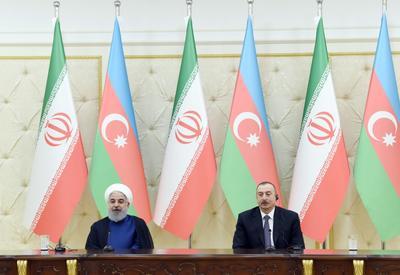 Президенты Азербайджана и Ирана выступили с заявлениями для печати - ОБНОВЛЕНО - ФОТО