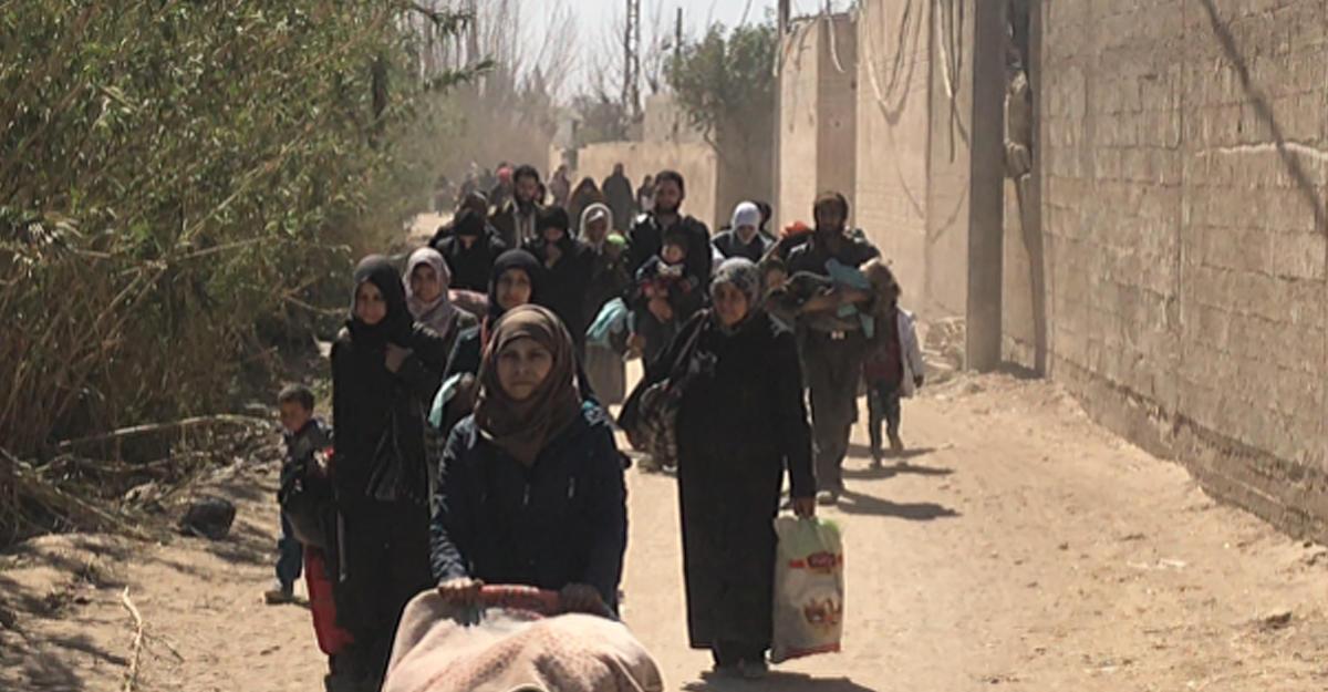 Восточную Гуту вСирии покинули неменее 150 тыс. человек— минобороны Российской Федерации