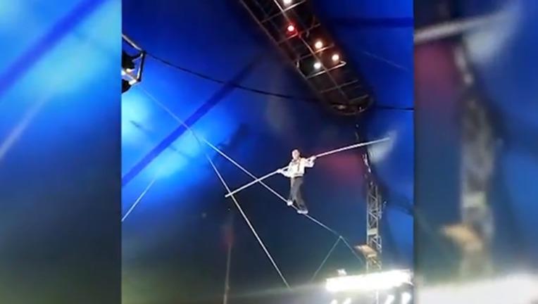 ВБратске при падении с8-метровой высоты канатоходец ушиб руку