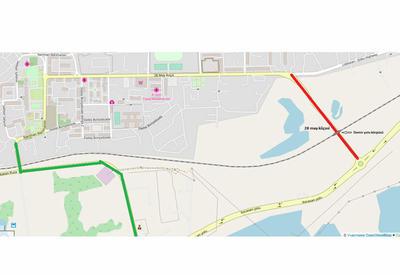 В этой части Баку ограничивается движение транспорта