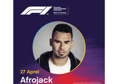 Афтепати с легендарным диджеем Afrojack пройдет в рамках Гран-при Азербайджана Формулы 1