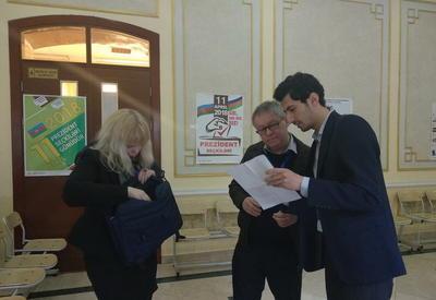 """Миссия ПАСЕ начала наблюдение за ходом голосования на президентских выборах в Азербайджане <span class=""""color_red"""">- ФОТО</span>"""