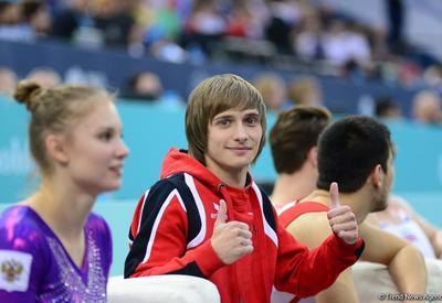 """Азербайджанский гимнаст стал Чемпионом Европы в прыжках на акробатической дорожке <span class=""""color_red"""">- ФОТО</span>"""