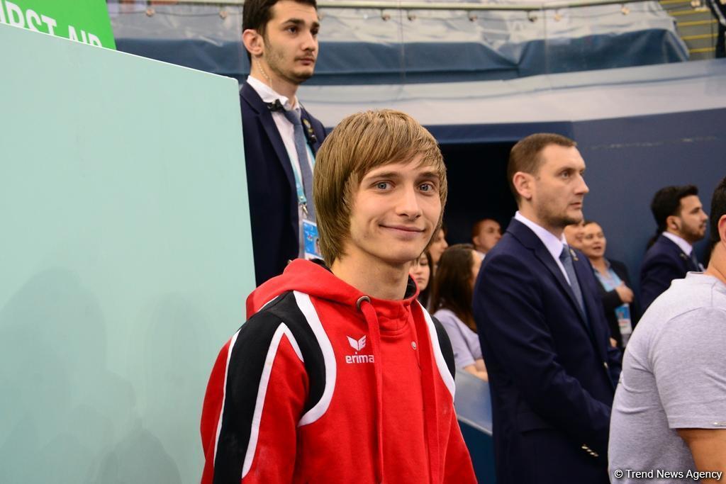 Азербайджанский гимнаст стал Чемпионом Европы в прыжках на акробатической дорожке - ФОТО
