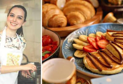 """Лимонные панкейки - Рецепт от азербайджанского фуд-блогера <span class=""""color_red"""">- ФОТО</span>"""