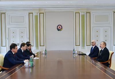 Президент Ильхам Алиев принял министра экономического развития России