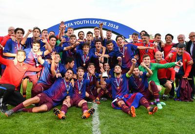 """""""Барселона"""" во второй раз в истории выиграла Юношескую лигу УЕФА"""