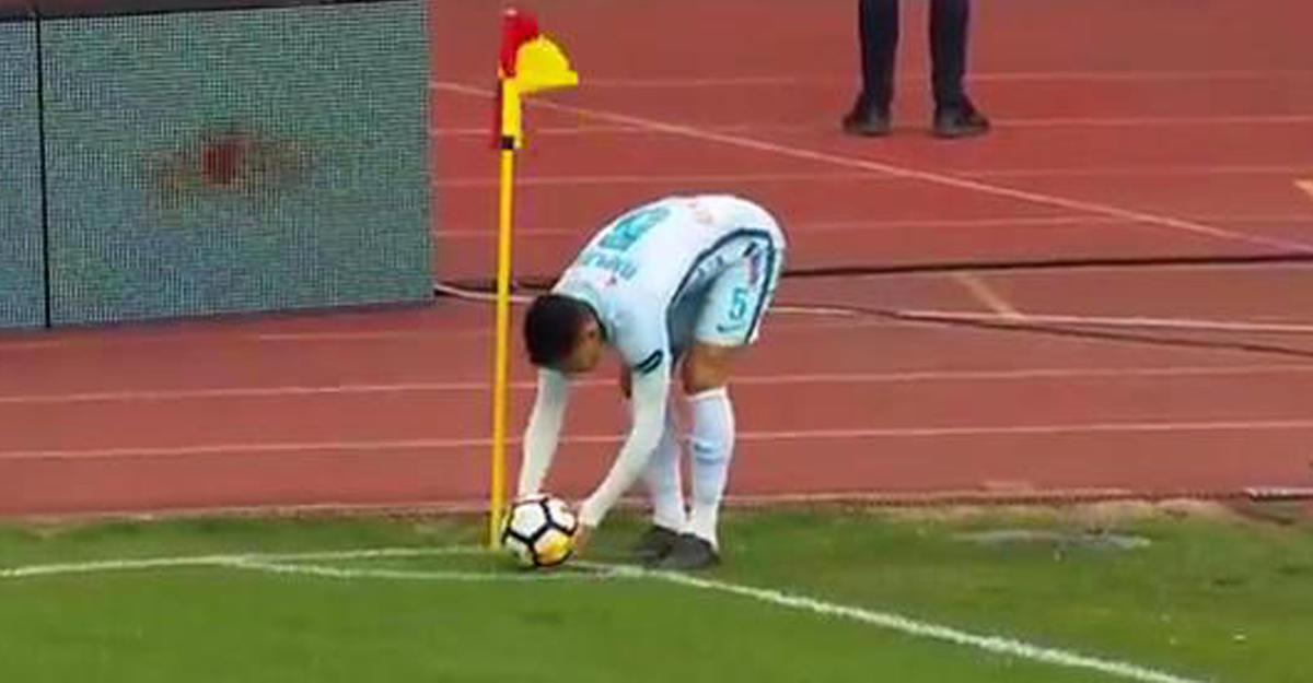 Игрок «Зенита» забил прямым ударом с углового