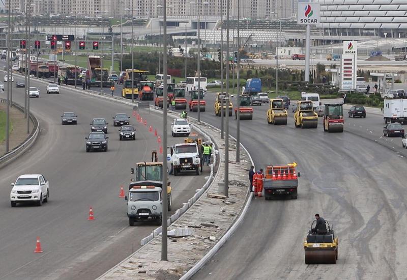 Ограничивается движение на участке одного из проспектов в Баку