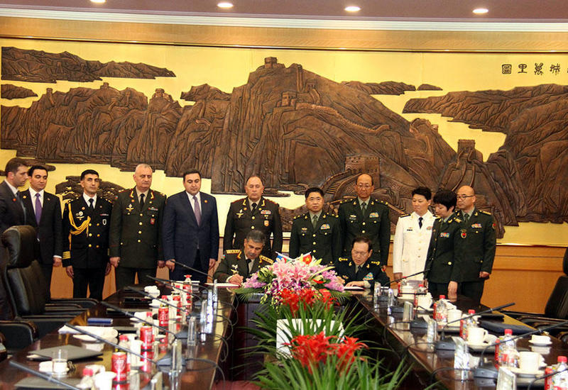 Азербайджан и Китай подписали документ о военной помощи