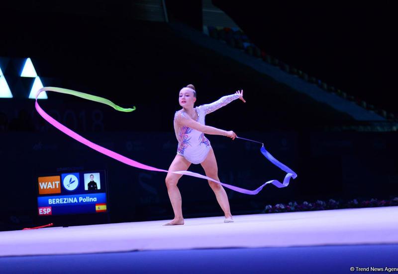 В Баку стартовал II день соревнований Кубка мира по художественной гимнастике