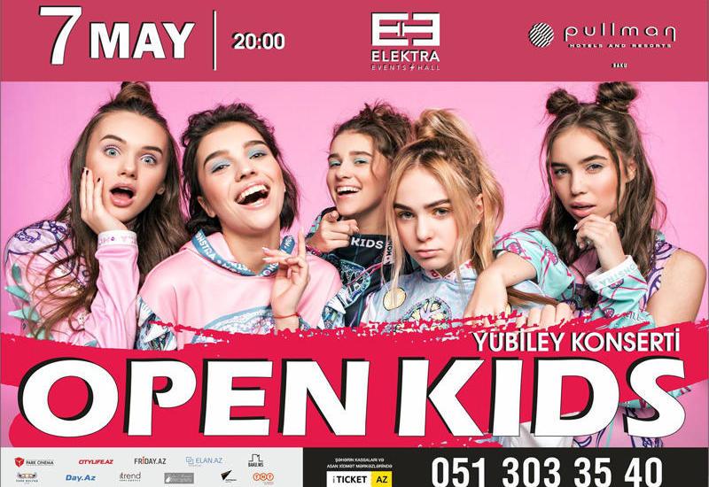 Группа Open Kids пригласили бакинцев на юбилейный концерт
