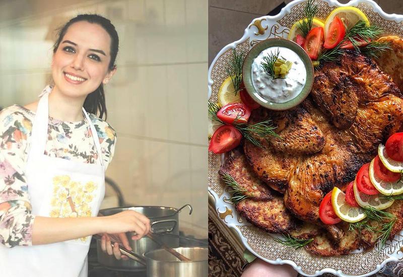 Жареная курица табака с картофельными драниками и сметанным соусом – Пошаговый рецепт
