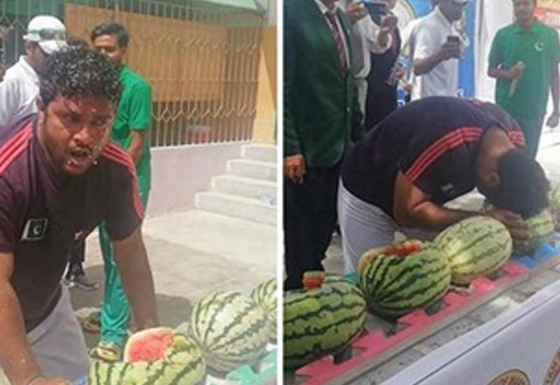 Пакистанец попал в книгу рекордов благодаря арбузам