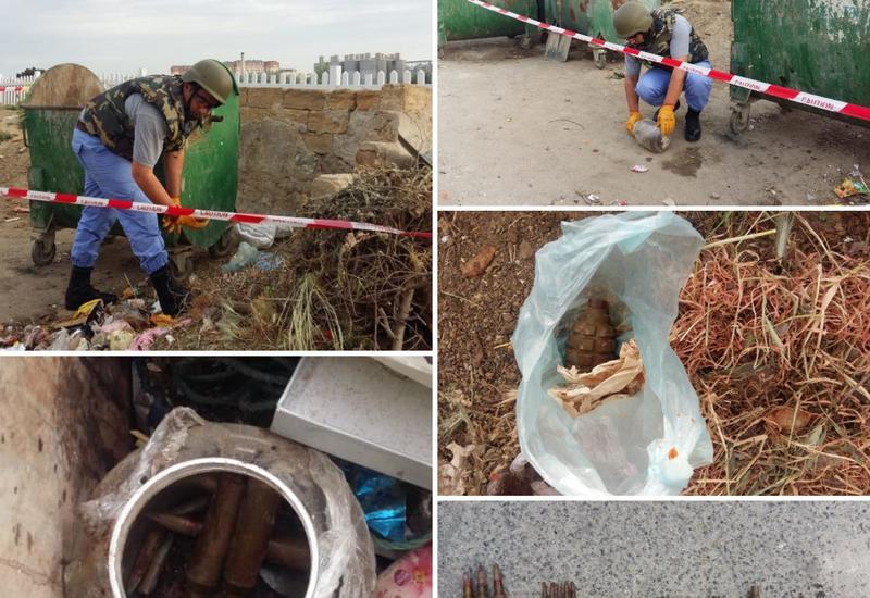 В Баку обнаружены ручная граната и патроны