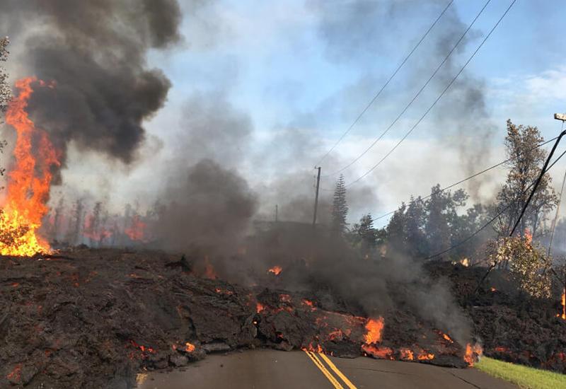 На Гавайях произошло новое извержение вулкана