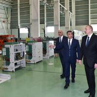 """Президент Ильхам Алиев принял участие в открытии завода высоковольтного оборудования в Баку <span class=""""color_red"""">- ФОТО</span>"""