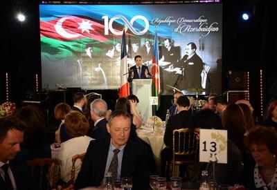 """В Париже при организационной поддержке Фонда Гейдара Алиева торжественно отмечено 100-летие АДР <span class=""""color_red"""">- ФОТО</span>"""