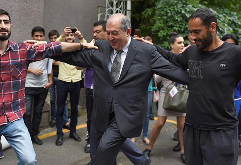 "Президент Армении станцевал азербайджанский танец <span class=""color_red"">- ВИДЕО</span>"