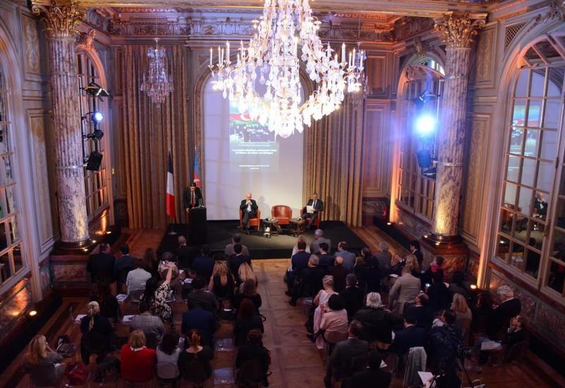 """При организационной поддержке Фонда Гейдара Алиева во Франции прошла конференция, посвященная 100-летию АДР <span class=""""color_red"""">- ФОТО</span>"""