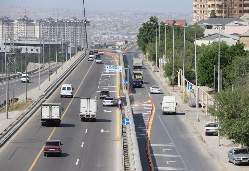 """Внесены изменения в движение на 1-й Бакинской кольцевой дороге <span class=""""color_red"""">- ФОТО</span>"""