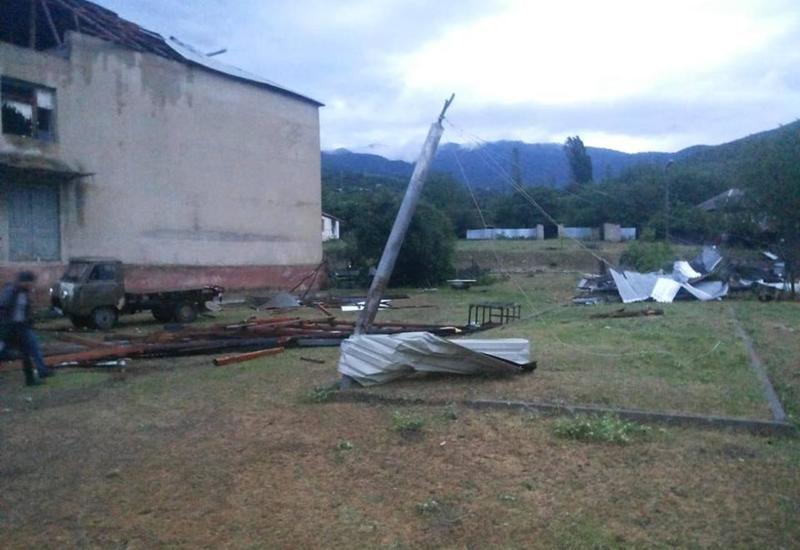 Ливни и град нанесли большой ущерб в Исмаиллы