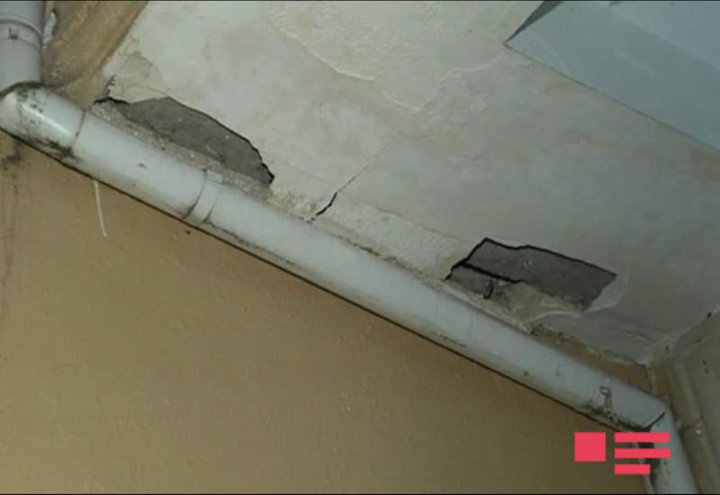После землетрясения в Загатале в ряде домов  образовались трещины