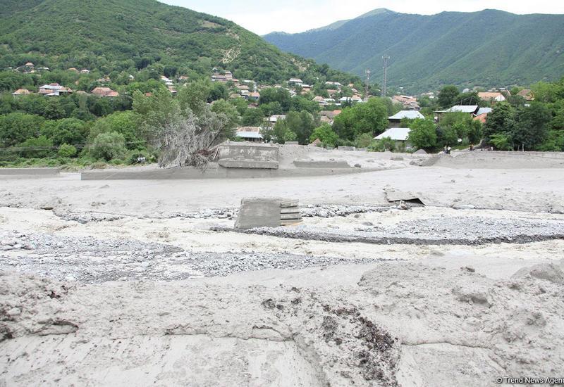 МЧС установит ущерб от селей в Дашкесанском районе