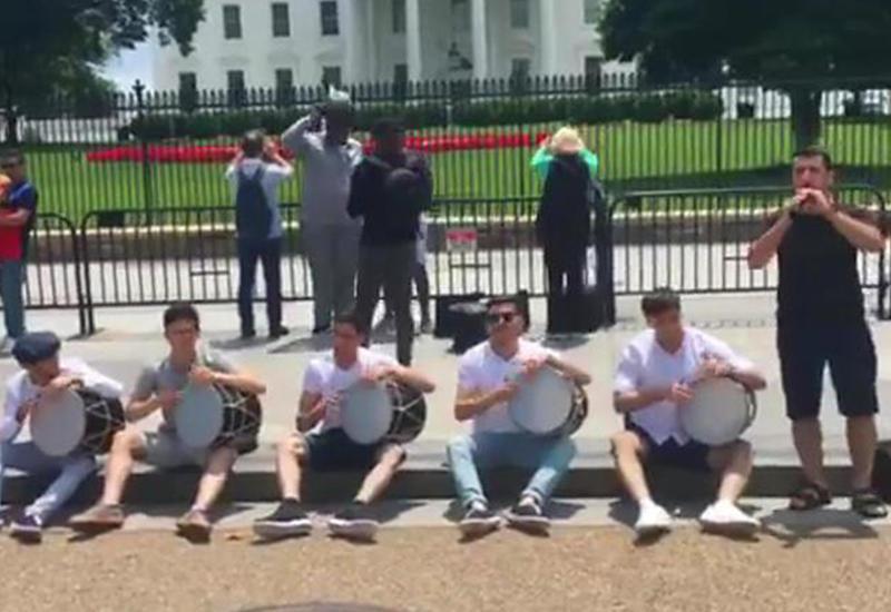 Азербайджанцы устроили великолепное шоу перед Белым домом