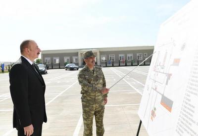 Президент Ильхам Алиев принял участие в открытии N-ской воинской части Минобороны - ФОТО