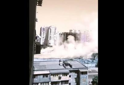 """Yasamalda güclü yanğın: polis idarəsinin arxası yandırıldı <span class=""""color_red"""">- VİDEO</span>"""