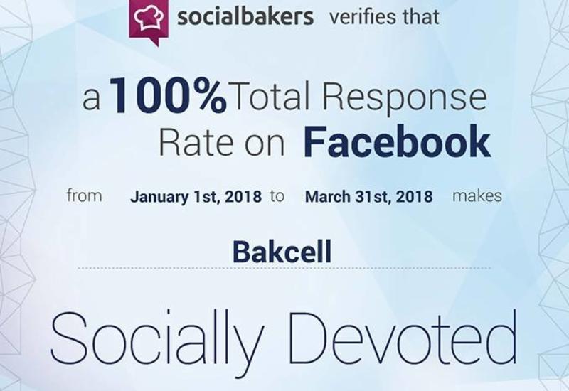 Bakcell наградили за рекордное количество ответов на обращения в соцсетях