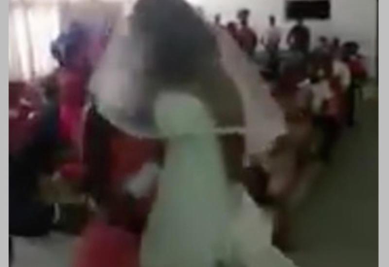 """Девушка в наряде невесты заявилась на свадьбу любовника и устроила скандал <span class=""""color_red"""">- ВИДЕО</span>"""