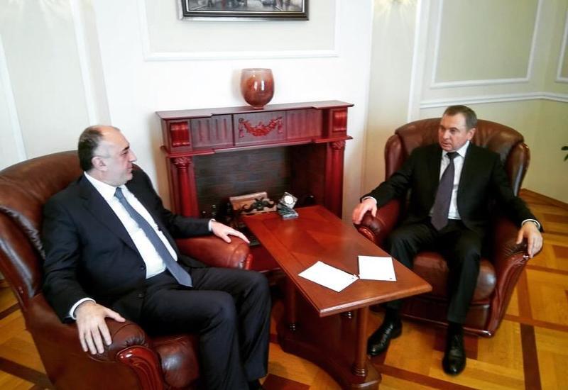 Эльмар Мамедъяров на переговорах в Минске