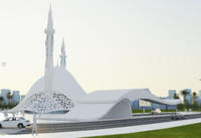 """Оригинальный проект современной Белой мечети в Баку от выпускника британского вуза <span class=""""color_red"""">- ФОТО</span>"""