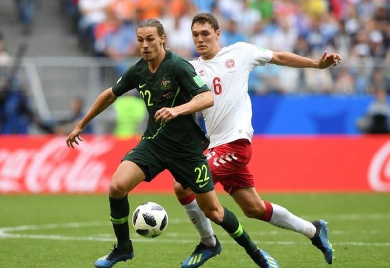 Австралия и Дания сыграли вничью в матче чемпионата мира