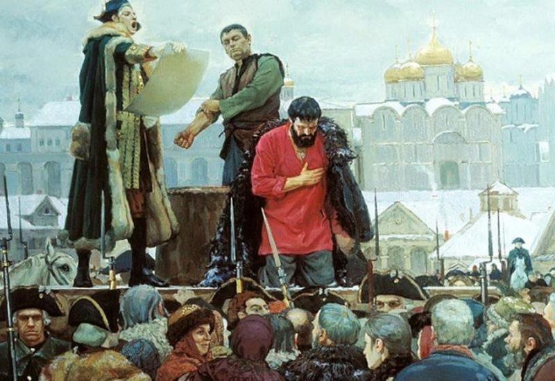 Вчембыла ошибка палача Емельяна Пугачева