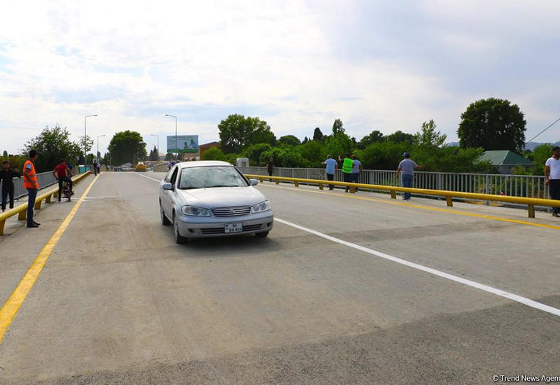"""В Гекчайском районе восстановлен разрушенный селями мост <span class=""""color_red"""">- ФОТО</span>"""