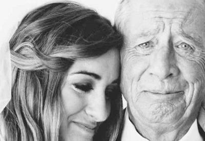 20 милых фото, на которых отцы увидели своих дочек в свадебных платьях