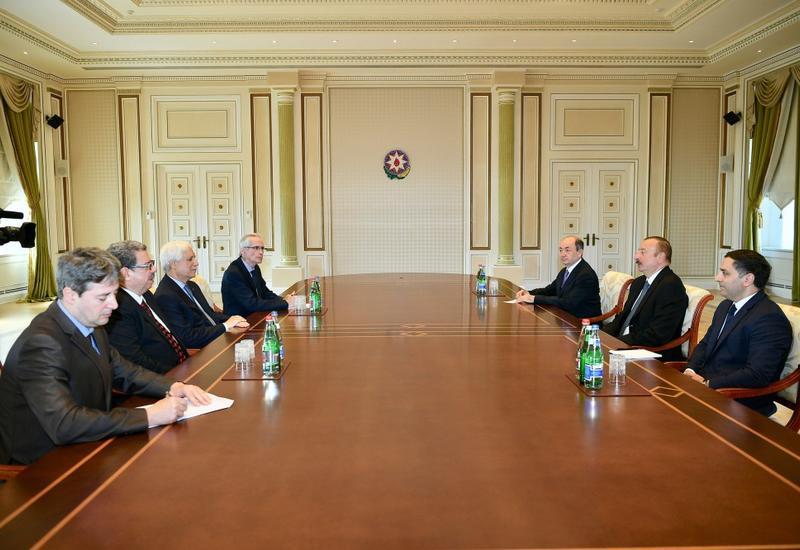 Президент Ильхам Алиев принял делегацию во главе с министром юстиции Алжира