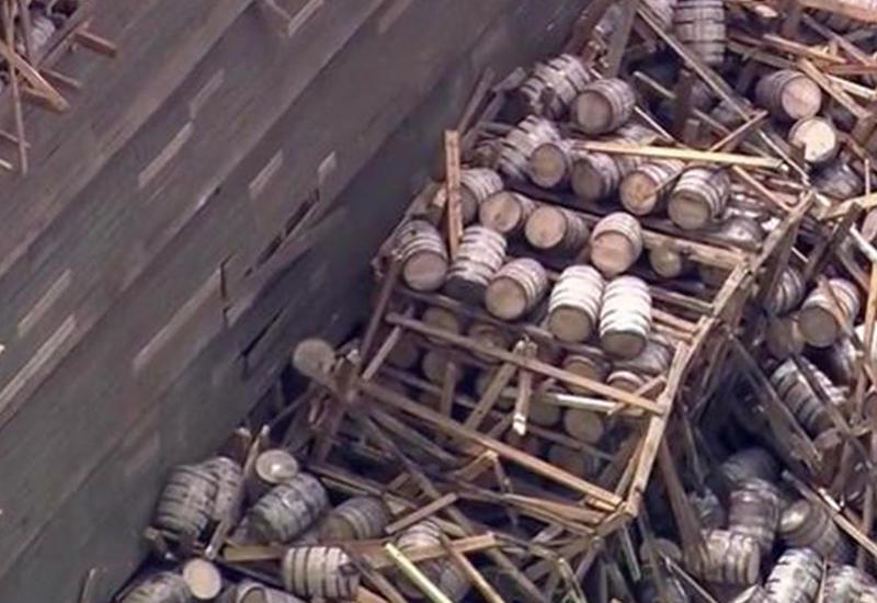 "Два миллиона литров кукурузного виски вылилось на складе в США <span class=""color_red"">- ВИДЕО</span>"