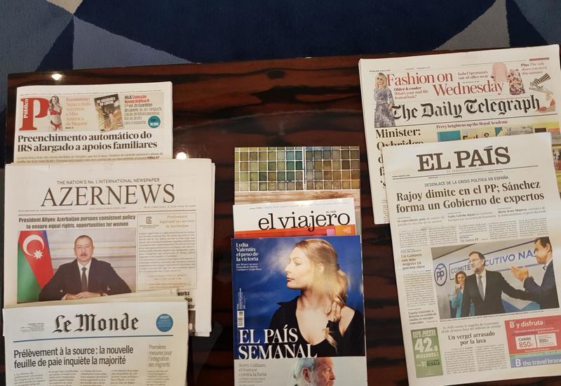 """Уникальный успех: Впервые азербайджанская газета будет издаваться в США <span class=""""color_red"""">- ФОТО</span>"""