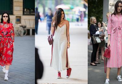 """Создаем модный образ с платьем и удобной обувью - 6 свежих идей <span class=""""color_red"""">- ФОТО</span>"""