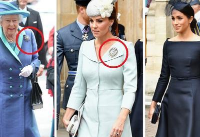"""Почему все женщины монаршей семьи надели брошь на столетие Королевских ВВС, а Меган - нет <span class=""""color_red"""">- ФОТО - ВИДЕО</span>"""
